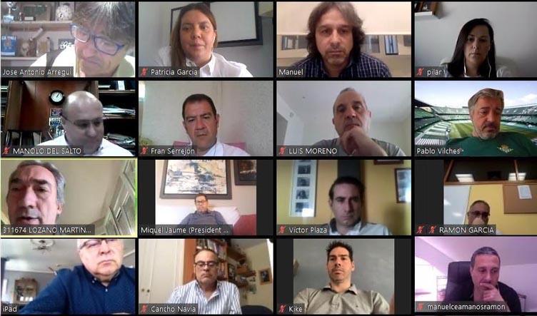 Reunión telemática de la Junta Directiva de la Liga Nacional de Fútbol Sala.