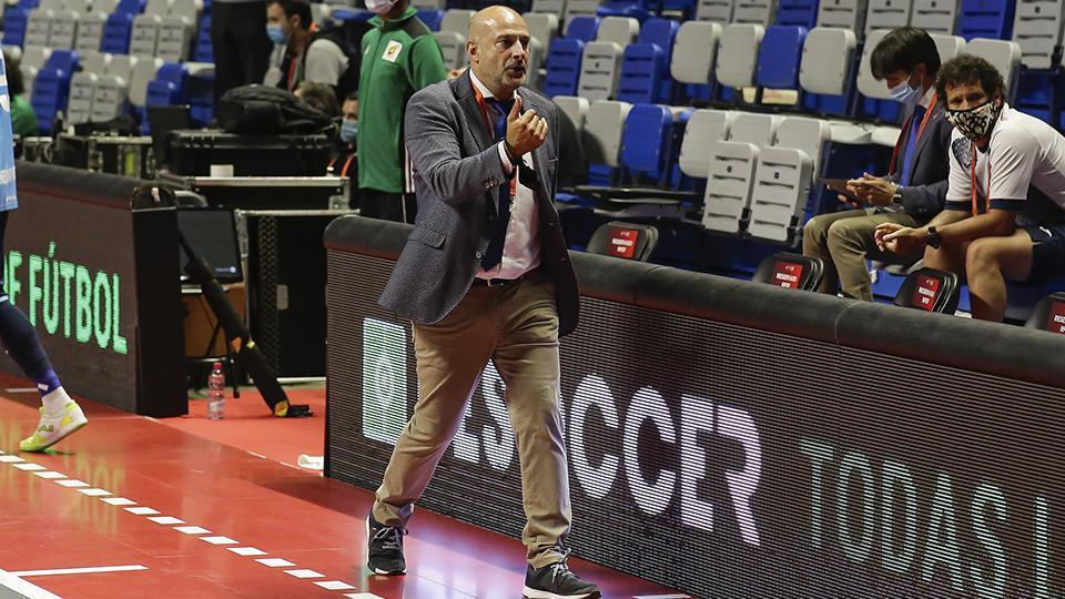 Tino Pérez, entrenador de Movistar Inter