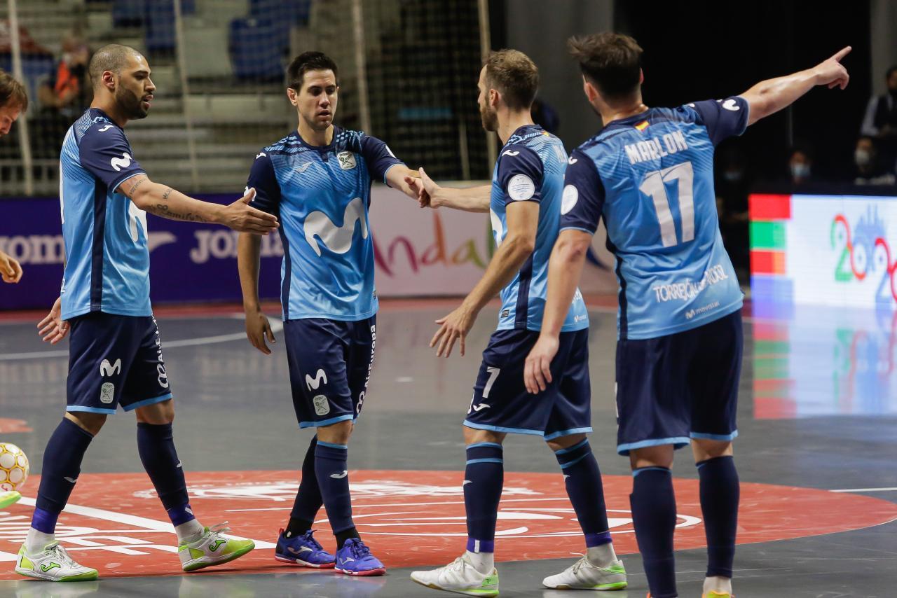 Los jugadores de Movistar Inter celebran un gol