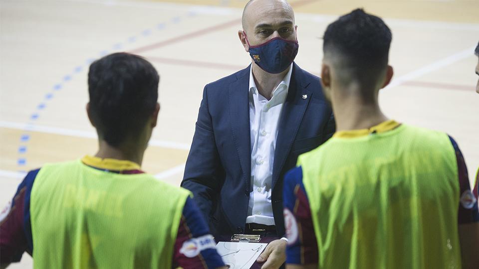 Miguel Andrés, segundo entrenador del Barça.