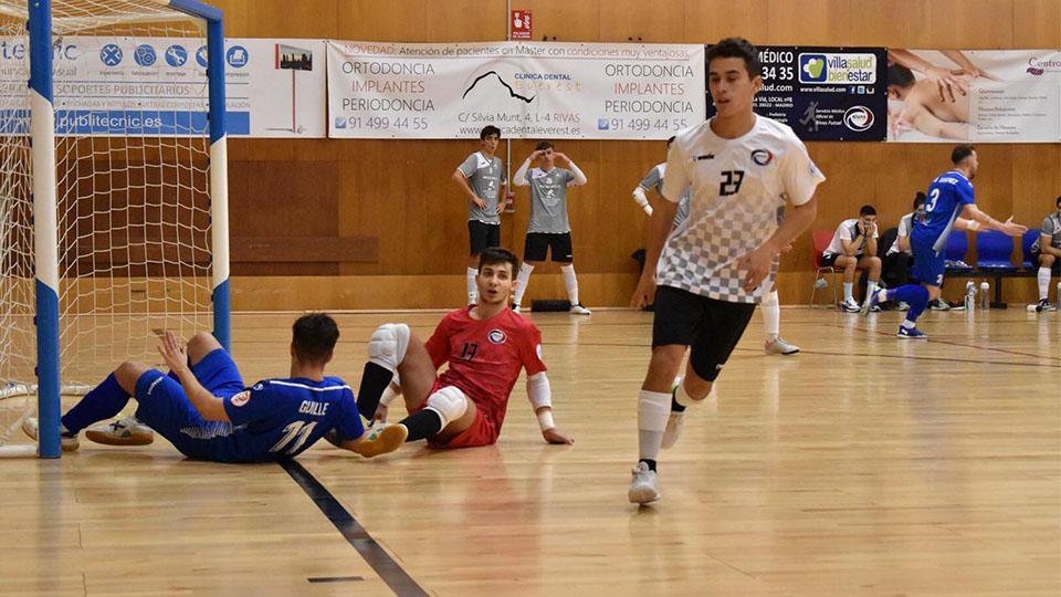 Adri Oro, jugador del Rivas Futsal, en un encuentro de Liga