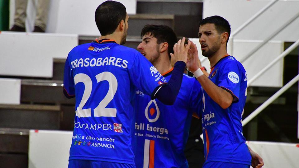 Los jugadores de Full Energía Zaragoza celebran un gol. Fdo: Andrea Royo López