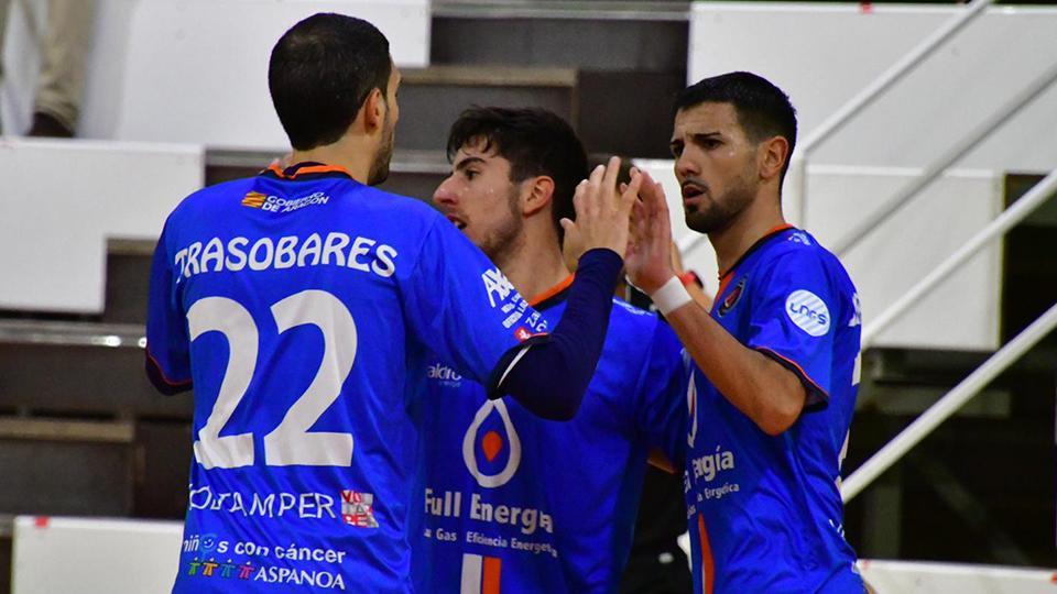 Los jugadores de Full Energía Zaragoza celebran un gol  (Fotografía: Andrea Royo López)