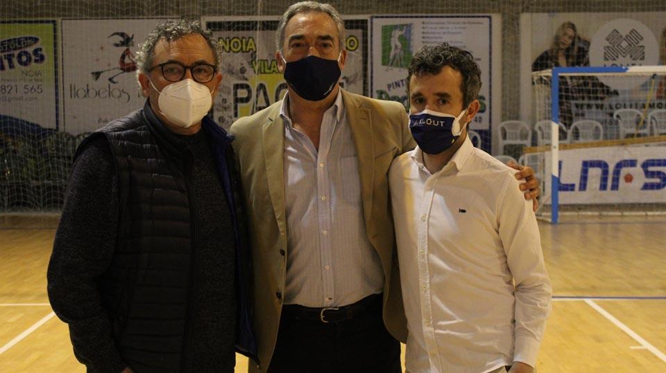 Javier Lozano se desplazó a Noia para reunirse con el club gallego y presenciar el Play Off de Ascenso