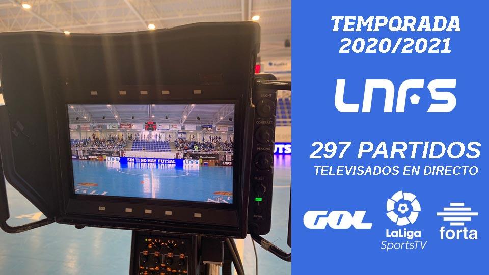 La LNFS ha batido su récord de retransmisiones en directo durante una temporada.
