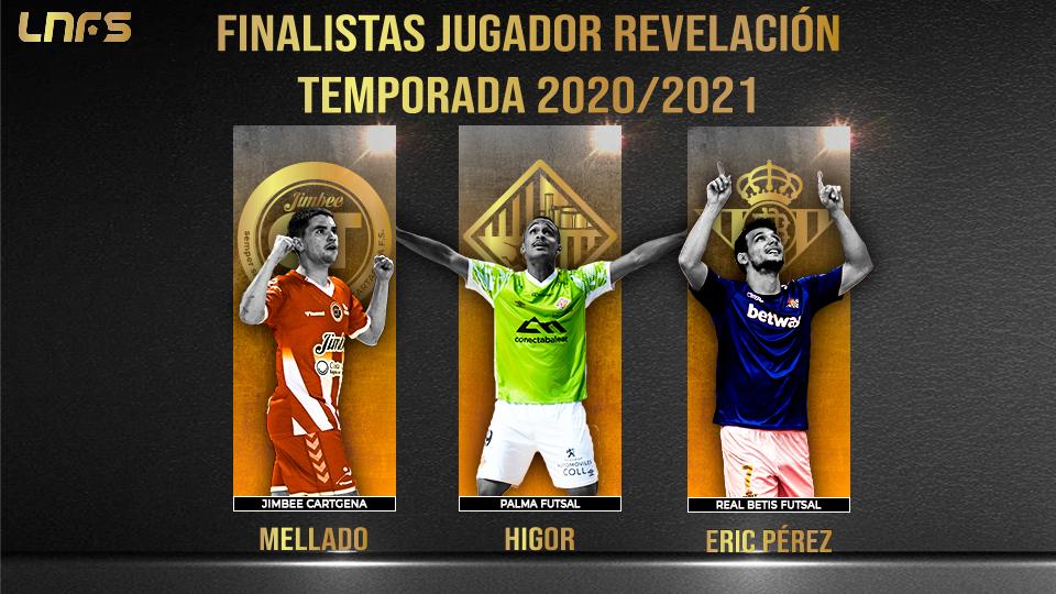 Mellado, Higor y Éric Pérez: Nominados al 'Jugador Revelación' de la Temporada 20/21
