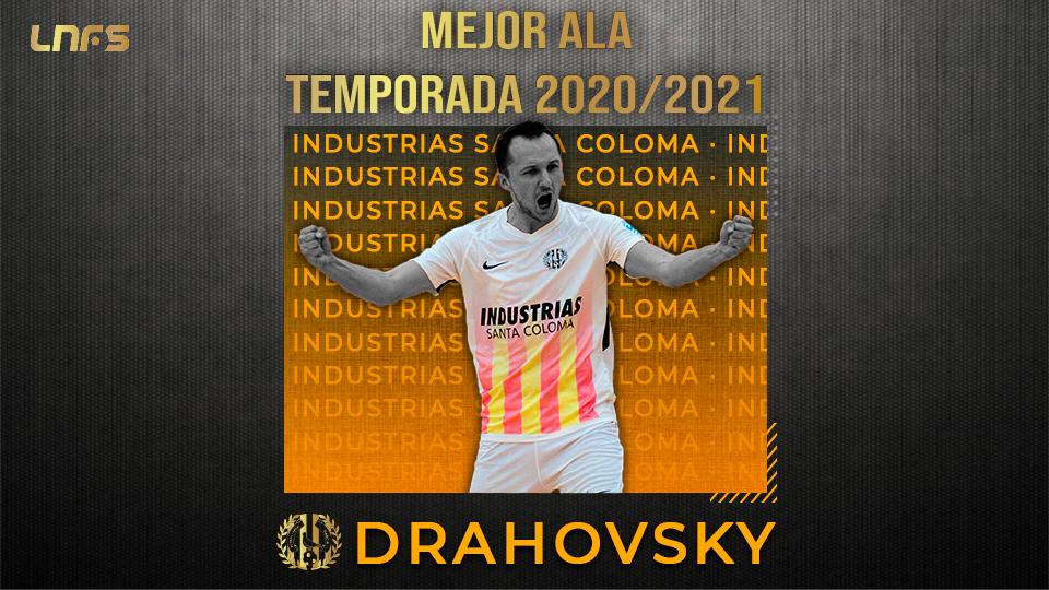 Tomas Drahovsky, 'Mejor Ala' de la Temporada 20/21