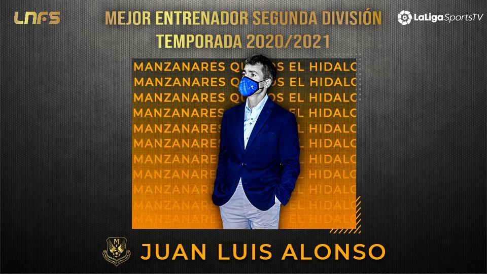 Juanlu Alonso, 'Trofeo LaLigaSports al Mejor Entrenador de Segunda División' la Temporada 20/21