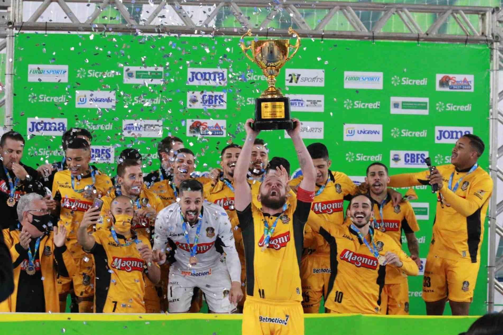Magnus Futsal logró la Taça Brasil, el único título que faltaba en su palmarés