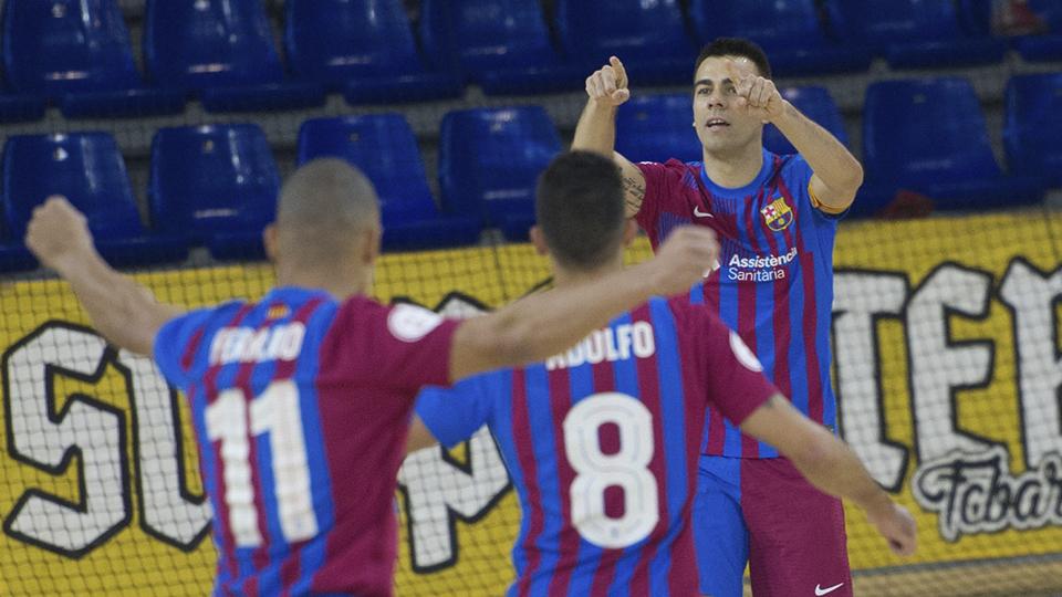 Holgado triunfo del Barça sobre Burela FS en el Palau (6-1)