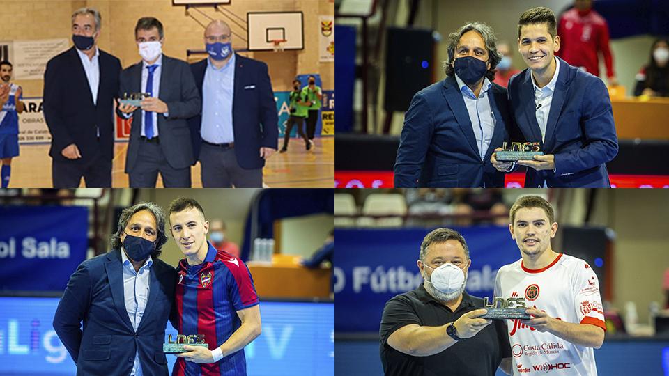 Diego Ríos, Maxi Rescia, Mellado y Juanlu Alonso recibieron su galardón de 'Los Mejores de la Temporada 20/21