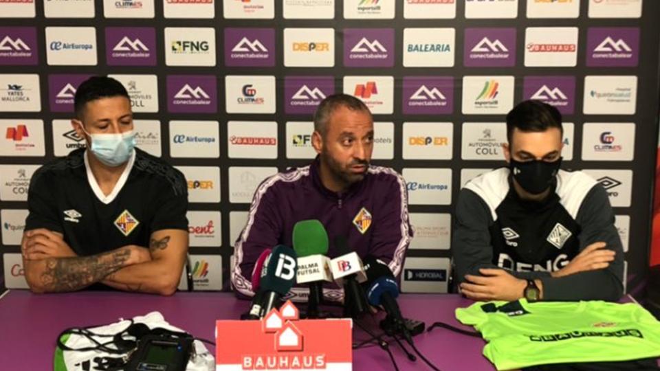 Vadillo, entrenador del Palma Futsal, en rueda de prensa.