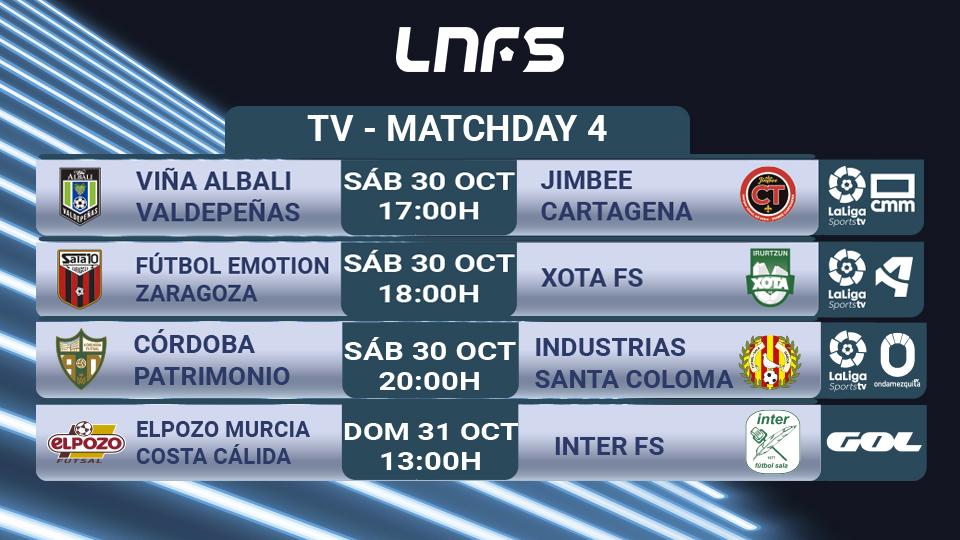 Fin de semana de Fútbol Sala en TV con cuatro partidazos, incluido El Clásico