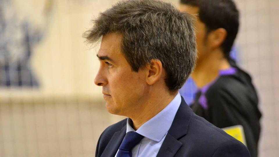 Juanlu Alonso, entrenador del Manzanares FS Quesos El Hidalgo