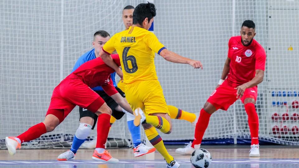 Daniel del Barça dispara a portería