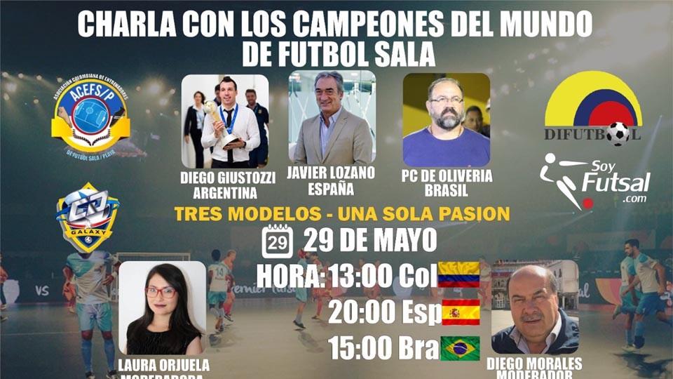 Javier Lozano, Diego Giustozzi y PC Oliveira, protagonistas en la charla 'Campeones del Mundo', organizada por la Asociación Colombiana de Entrenadores