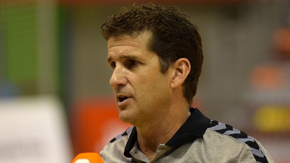 Duda, entrenador del Jimbee Cartagena (Fotografía: José López)
