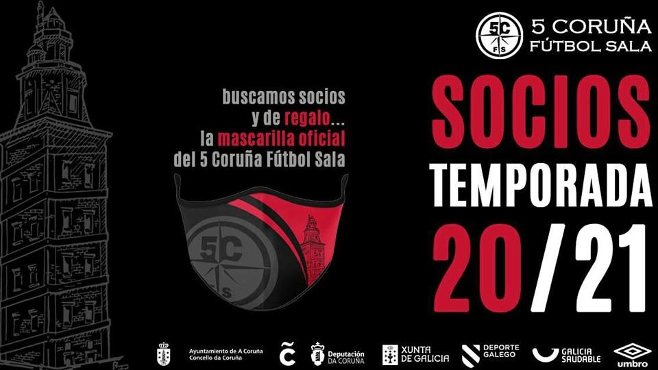 La mascarilla será la protagonista de la campaña de socios para la temporada 20/21 de la Academia Red Blue 5 Coruña