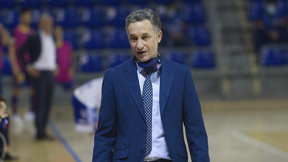 David Marín, entrenador del Fútbol Emotion Zaragoza.