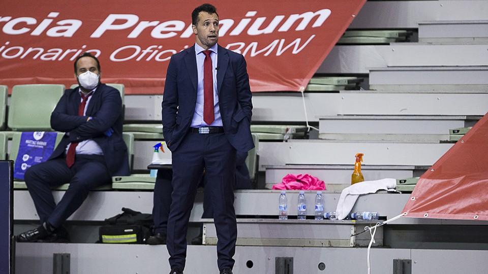 Diego Giustozzi, entrenador de ElPozo Murcia Costa Cálida (Fotografia: Pascu Méndez)