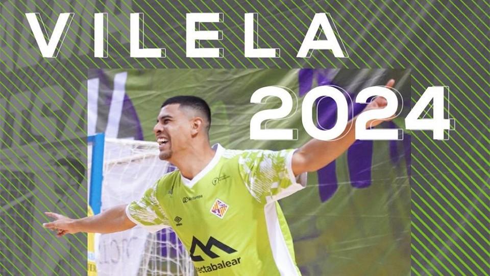 Vilela renueva su contrato con el Palma Futsal.
