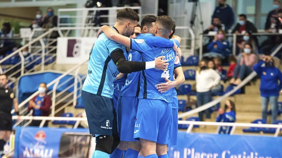 Los jugadores del Viña Albali Valdepeñas celebran un gol. (Foto: ACP - FSV)
