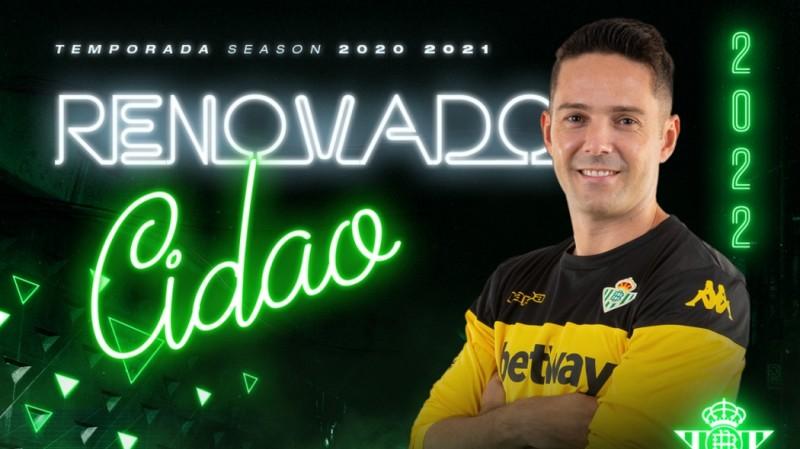 Cidao renueva hasta 2022 con el Real Betis Futsal