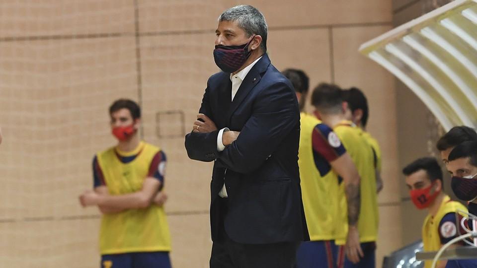 Xavi Closas, entrenador del Barça B.