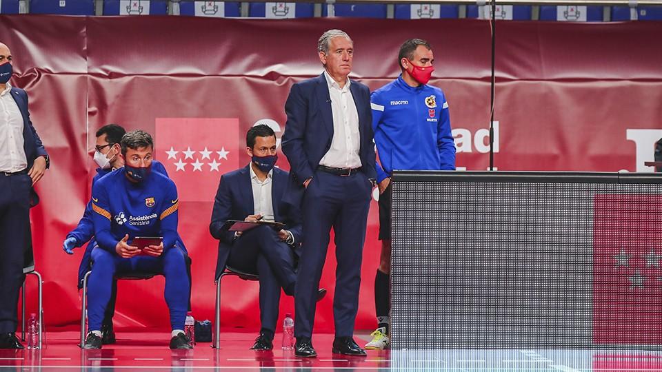 Andreu Plaza, entrenador del Barça.