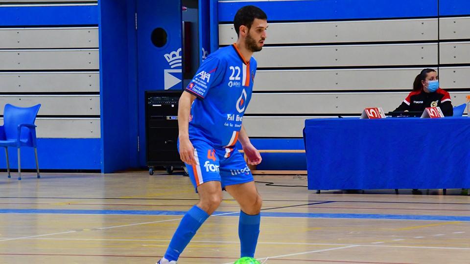 Trasobares, jugador del Full Energía Zaragoza (Foto: Andrea Royo López)