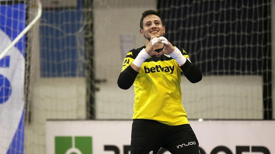 Nico Sarmiento, portero del Real Betis Futsal