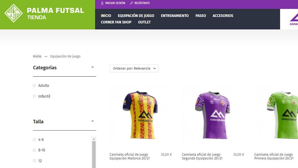 El Palma Futsal abre su tienda virtual