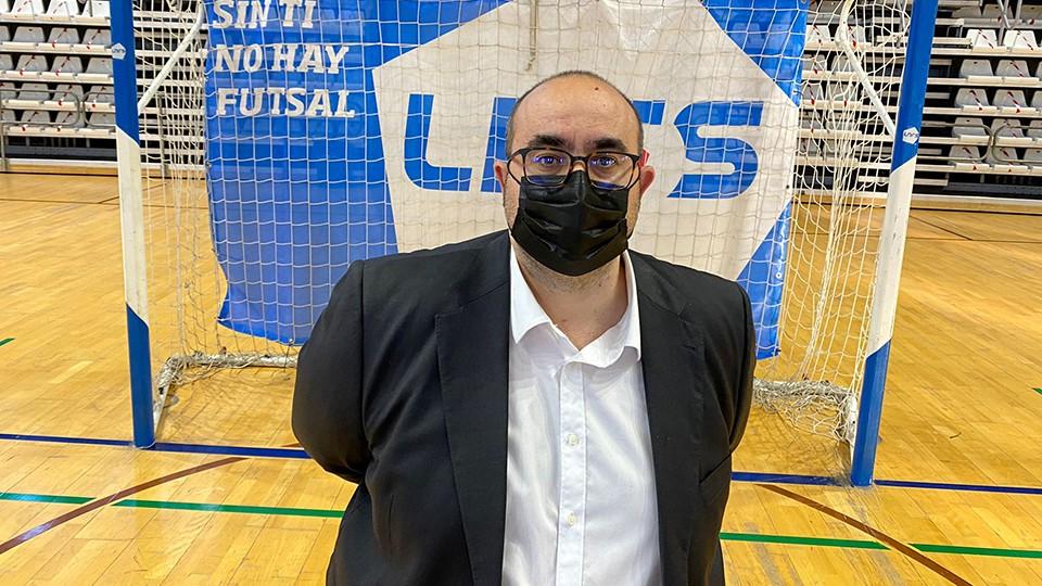 Ángel Saiz, entrenador de Rivas Futsal.