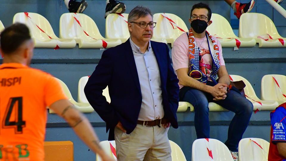 Alfonso Rodríguez, entrenador del Full Energía Zaragoza. (Foto: Andrea Royo López)