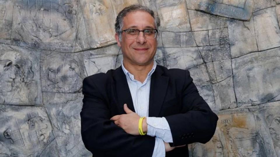 Ramón García Seara, presidente del JERUUBEX Santiago Futsal. (Foto: Fernando Blanco   El Correo Gallego).