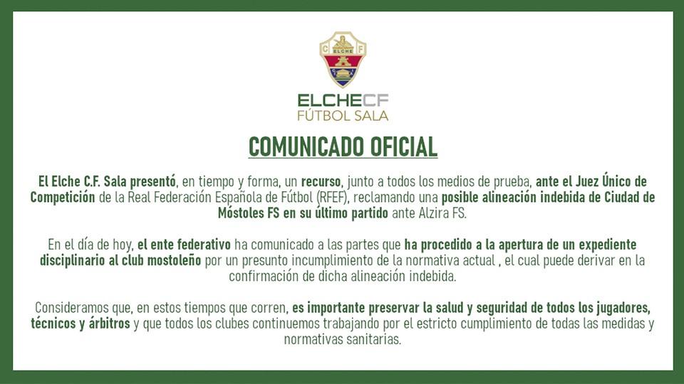 Comunicado Oficial del Elche CF Sala