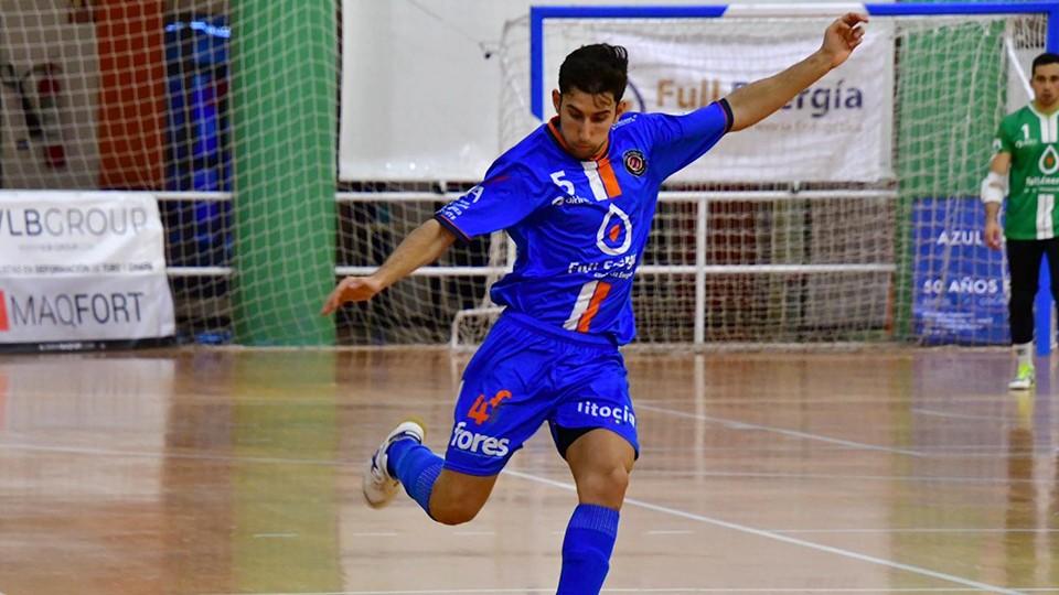 Fran Tabuenca, jugador del Full Energía Zaragoza. (Foto: Andrea Royo López)