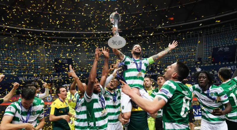 Joao Matos, capitán del Sporting, levanta la segunda UEFA Futsal Champions League