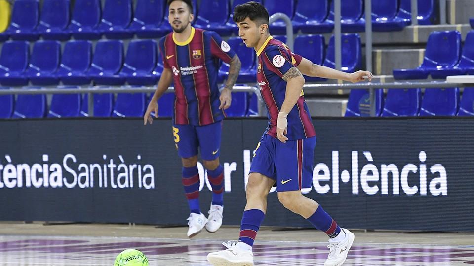 Bernat Povill se estrenó como goleador del Barça en Liga
