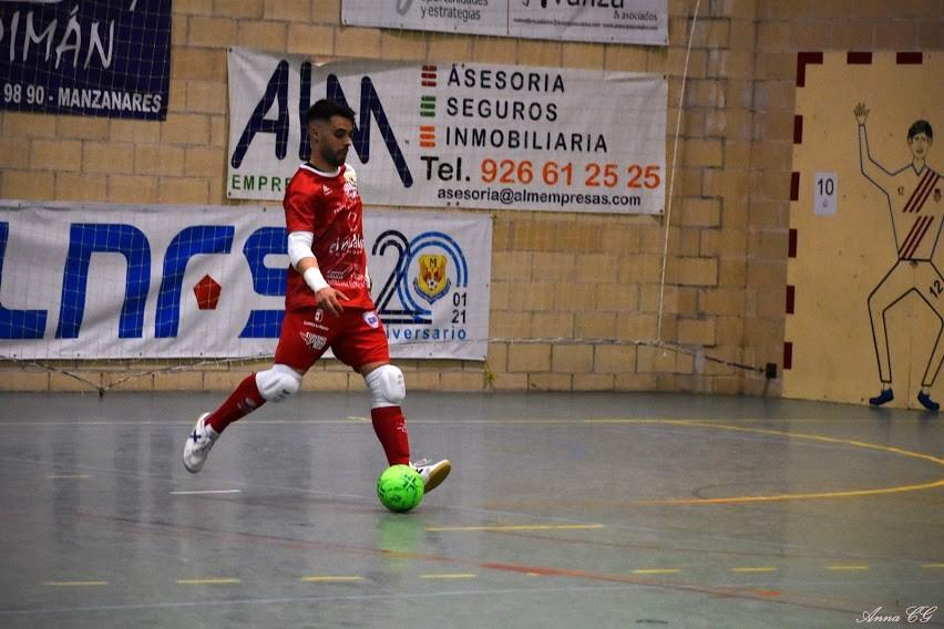 Dani Juárez, portero del Manzanares FS Quesos El Hidalgo, durante un partido