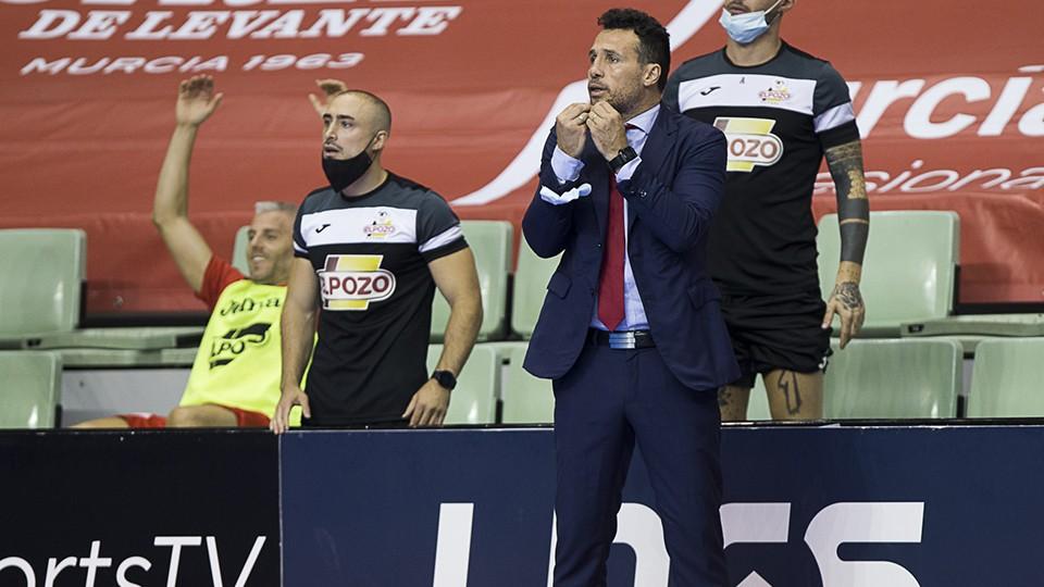 Diego Giustozzi, entrenador de ElPozo Murcia Costa Cálida.
