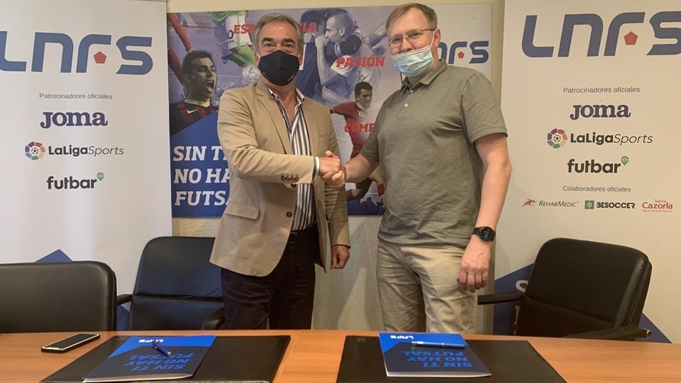 La LNFS y la Liga Báltica cierran un acuerdo de colaboración para fomentar el desarrollo del Futsal en los países bálticos