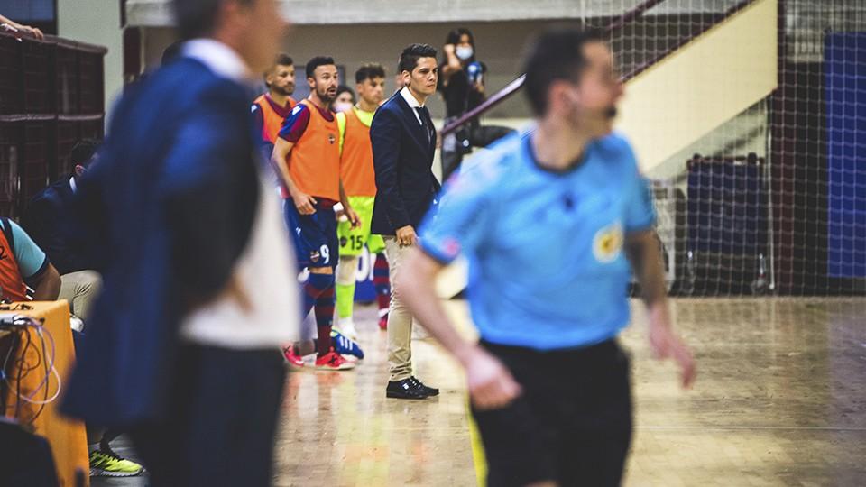 Diego Ríos, entrenador del Levante UD FS.