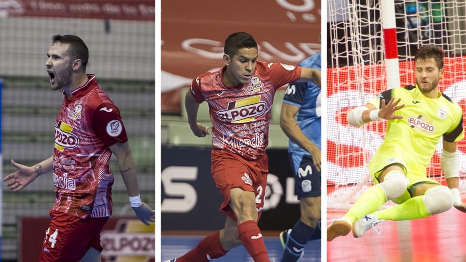 Paradynski, Cholo Salas y Carlos Espindola no continuarán la próxima temporada en ElPozo Murcia Costa Cálida