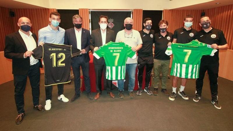 El Real Betis Futsal firma un convenio de colaboración con el Club de Fútbol Sala Blanesport y el Ayuntamiento de Blanes