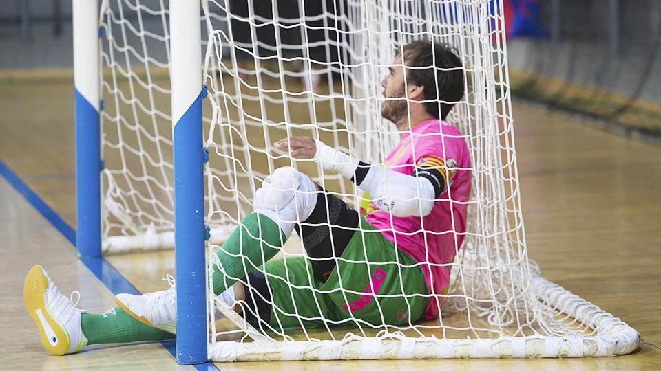 Barrón, portero de Palma Futsal, durante un encuentro