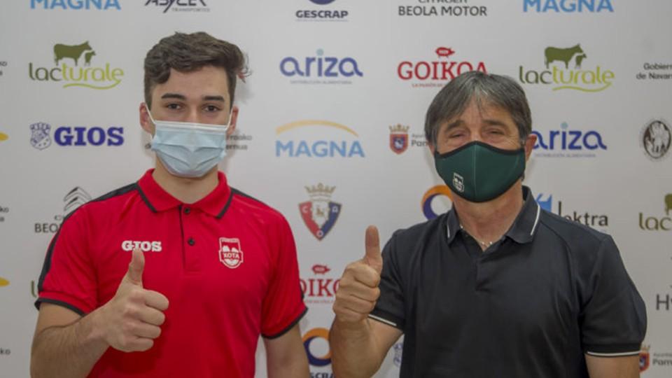 Ion Cerviño y Tatono Arregui, de Osasuna Magna Xota.