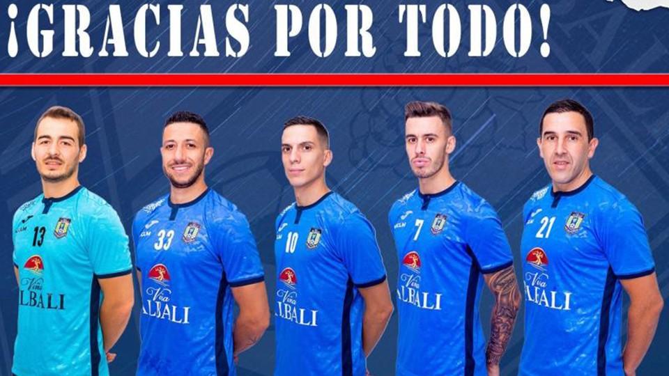 Coro, Dani Santos, Jose Ruiz, Álex García y Cainan de Matos, de Viña Albali Valdepeñas, no continuarán en el club.
