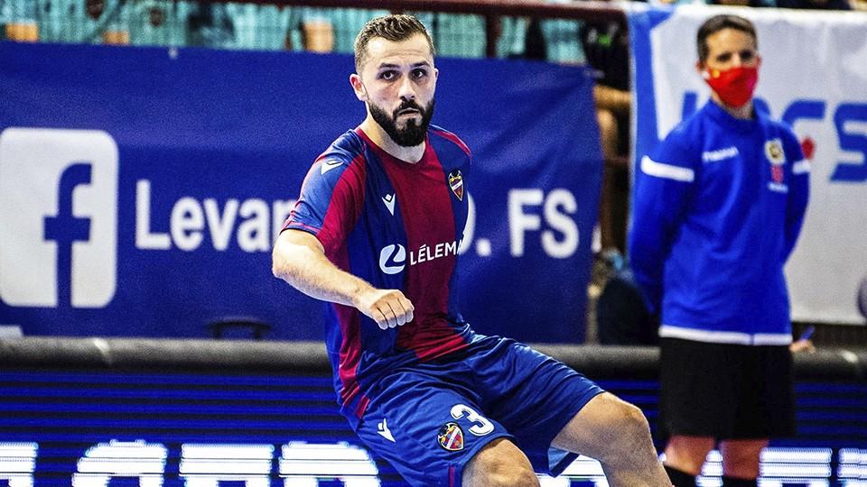 Rafa Usín, jugador del Levante UD FS