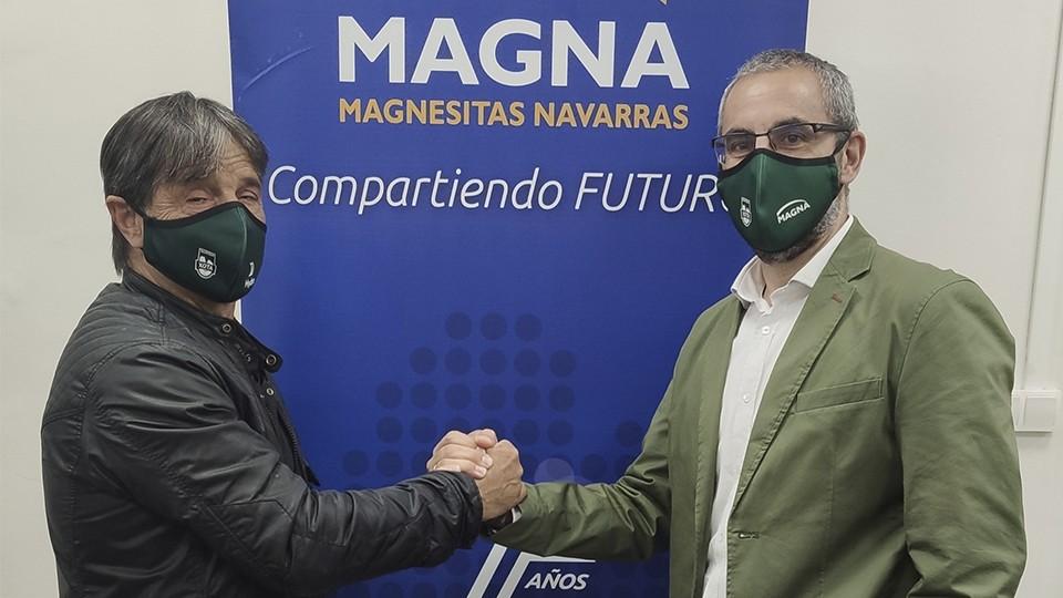 Tatono Arregui, presidente de Osasuna Magna y Javier Creixell, Director General de Magnesitas Navarras.